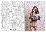 5x7ft Vinyl Digital Gray Study Stationery Back to School Photography Studio Backdrop Background