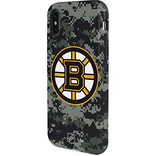 Skinit Boston Bruins Camo iPhone X Pro Case - Officially Licensed NHL Phone Case Pro, Scratch Resistant iPhone X Cover