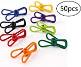 Clothesline Utility Clips Steel Wire Clips Holders,50pcs ,Assortment