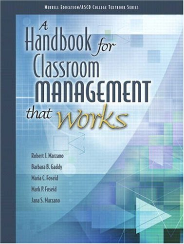 By Robert J. Marzano - A Handbook for Classroom Management that Works: 1st (first) Edition
