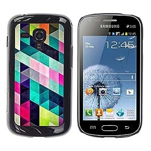 TopCaseStore / la caja del caucho duro de la cubierta de protección de la piel - Pattern Design Fashion Colorful - Samsung Galaxy S Duos S7562