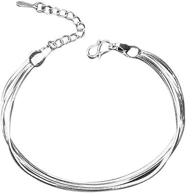 Lot de Chaine chainette collier bracelet necklace simple retro femme homme