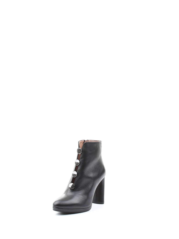 Albano Mujer 8130NERO Negro Cuero Botines: Amazon.es: Zapatos y complementos