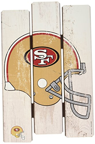 (Wincraft NFL San Francisco 49ers Wood Fence Sign,)