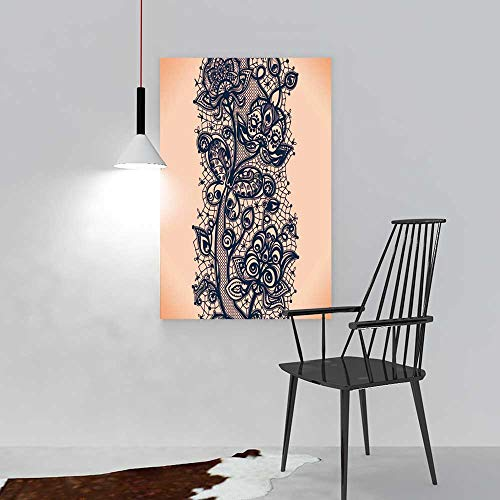 aolankaili Art The Picture for Home Decoration Frameless Abstract lace Ribbon Seamless Pattern Template Frame Design for Card lace Art for Home Decorations Wall Decor W12 x - Big Ribbon Hero 6