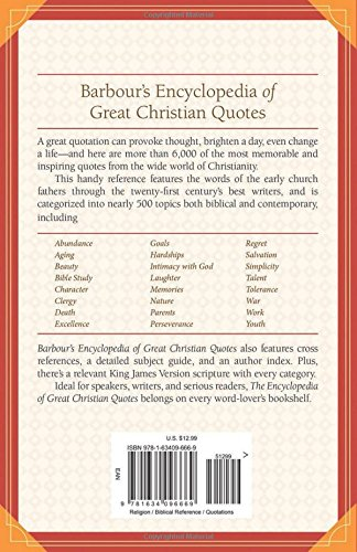 Barbour S Encyclopedia Of Great Christian Quotes More Than 6 000