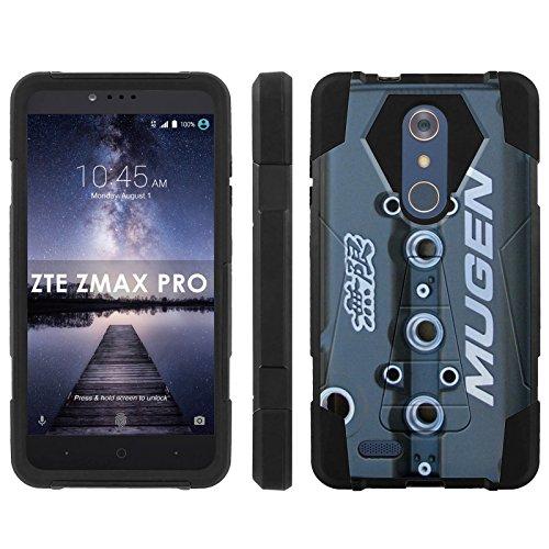 ZTE [ZMAX PRO] [Carry Z981] Phone Cover, Mugen Valve Cover - Black Hexo Hybrid Armor Phone Case for ZTE [ZMAX PRO] [Carry Z981]