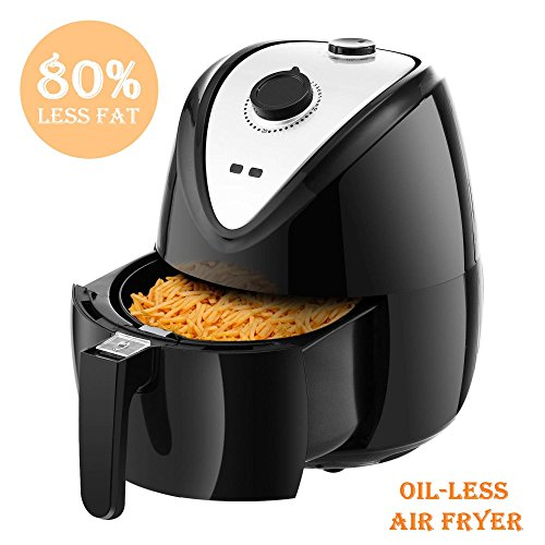 Electric Air Fryer for Healthy Fried Food 2.75 Quart Capacity 1400W, 80% Oil Less Digital Air Fryer with Timer, Temperature Controls and Rapid Air Circulation System (US STOCK) (1400W-2.6L)