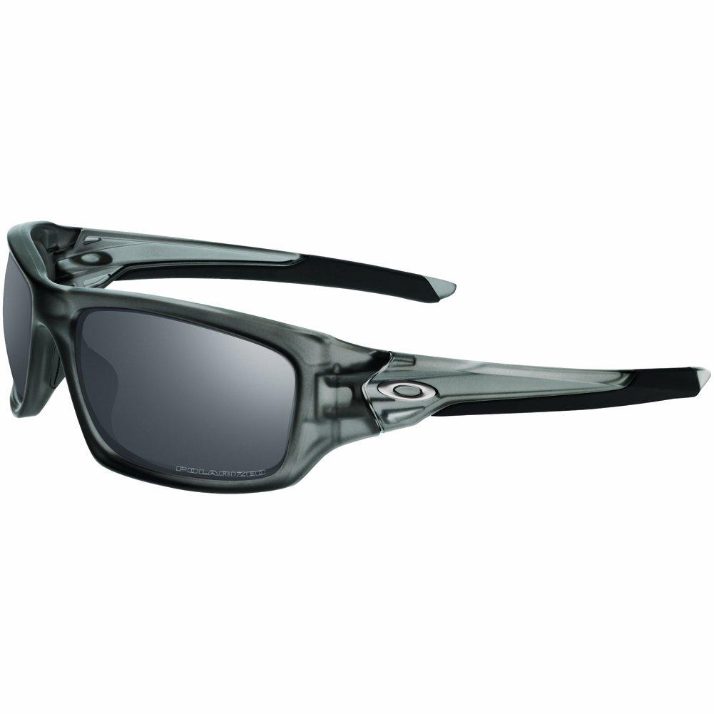 Oakley Men's OO9236 Valve Rectangular Sunglasses, Matte Grey Smoke/Black Iridium Polarized, 60 mm by Oakley