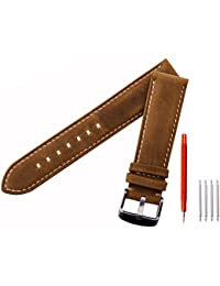 Ritche Leather strap Replacement Watch Bands Straps...