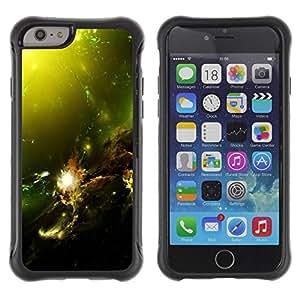 Suave TPU GEL Carcasa Funda Silicona Blando Estuche Caso de protección (para) Apple Iphone 6 PLUS 5.5 / CECELL Phone case / / Green Space Galaxy /