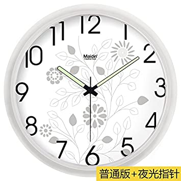 WERLM Diseño personalizado decorativos para el hogar reloj de pared Reloj de pared Reloj de arte mudo reloj moderno ...