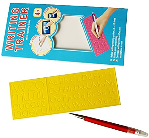 Double sided Letter Tracing Board with sensory lines - Alphabet Letters Handwriting Practice (Starting Montessori School)