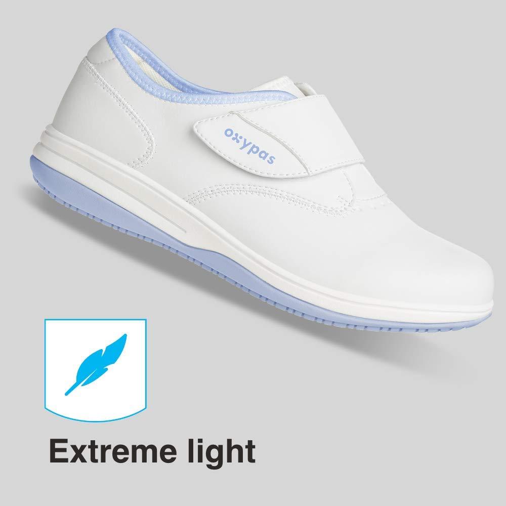 Antistatic Nursing Shoes Fux Oxypas Medilogic Emily Slip-resistant 3.5 UK 36 EU White