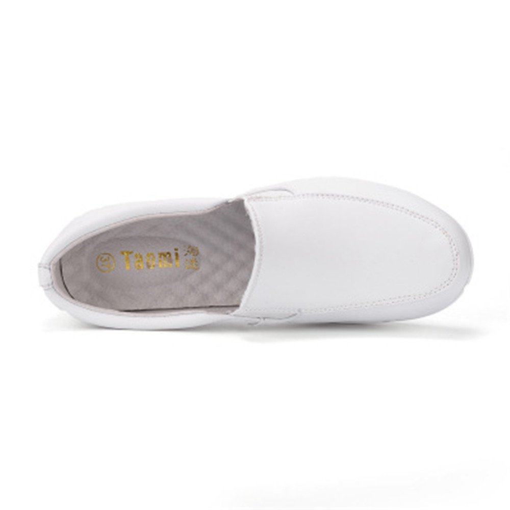 IINFINE Autumn and Winter Cushion White Slope with Non-Slip Shoes Female White Shoes Cosmetologist traval Shoes