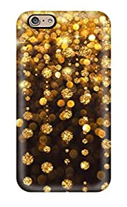 Hot Protective Tpu Case With Fashion Design For Iphone 6 (gold Rain) 4544615K15308295