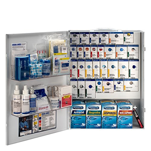 - First Aid Only 150 Person XL Metal SmartCompliance Food Service First Aid Cabinet with Medications (90830)