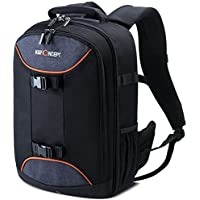 K&F Concept Professional Camera Bag 20L Large Capacity Backpack for DSLR Camera, 13.3 Laptop, Lens, Tripod and Accessories with Rain Cover