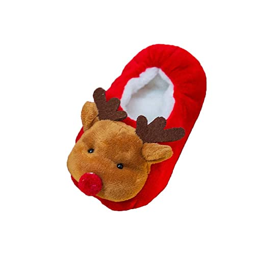Amazon.com | Christmas Baby Lined Fleece Booties Soft Soles Winter Warm Non-Skid Toddler Kid First Walkers Slippers Shoe | Shoes