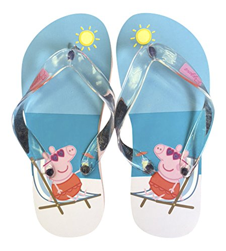 Sock Snob - Sandalias de Caucho para niña M Beach Blue