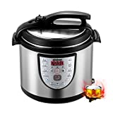 Gtime 6 Qt 18-in-1 Multi-Use Electric Pressure Cooker,Slow Cooker,Rice Cooker,Sauté,Steamer and Warmer with Stainless Steel Inner Pot,Includes Glass Lid,Steaming Rack,Extra Sealing Ring