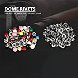 180 Sets Leather Rivets, 8MM Mushroom Round Dome