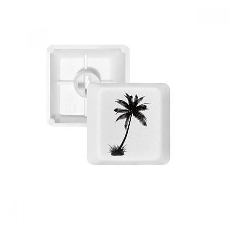 DIYthinker Árbol de Coco Playa Negra de la Silueta PBT Nombres de Teclas de Teclado mecánico