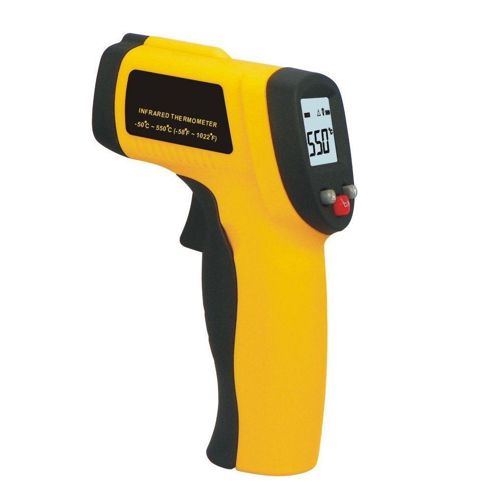 Luckystone Temperature Gun Non Contact Digital Infrared (IR) Thermometer Range of -58F to 1,022F w/ Laser Sight