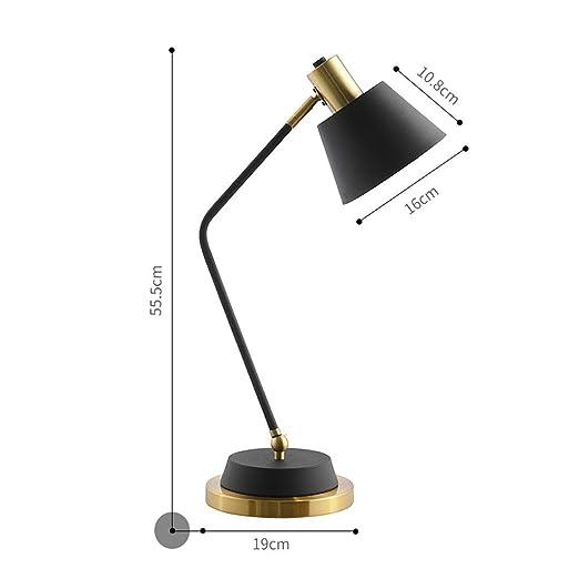 Lámpara de mesa dormitorio lámpara de cabecera cálida simple ...