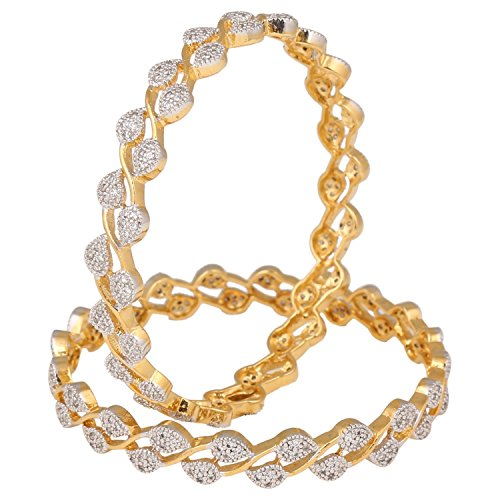 swasti-jewels-zircon-cz-gold-plated-fashion-jewelry-bangle-set-2-pieces-26-inches-for-women
