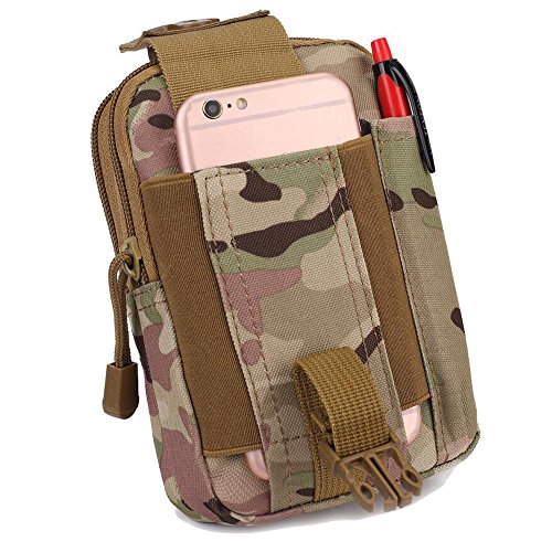 Tactical MOLLE POUCH EDC Utility Taille Tasche Compact Tactical Taille Pack mit Handy Holster Halter