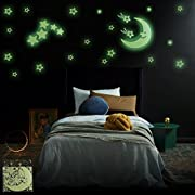 Glow in the Dark Stars | Largest, Brightest - Most Durable Set of Glowing Stars | 103 Stars, Extra-Large Moon, Shooting Stars, Comets, Clouds | Create a Starry Night | for Children of All Ages