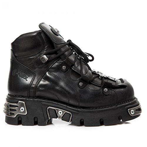 Nuovi Stivali Di Roccia M.756-s2 Gotico Hardrock Punk Stiefelette Unisex Schwarz
