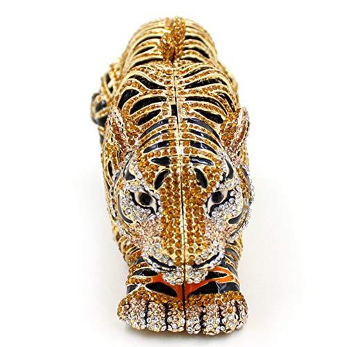 Donna Tigre Portafoglio Sera Borsa Sposa Partito Cerimonia Eleganti Pochette Frizioni Spalla Borsetta Gold FwqSPAS5