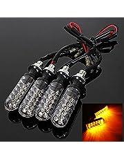 KaTur 4 x 12 V motorcykel 12 LED blinkers indikatorer gul ljus bar-stil