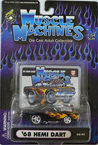 Black 68 Hemi Dart American Muscle Machines Series 1:64 Scale Collectible Die Cast Model Car -