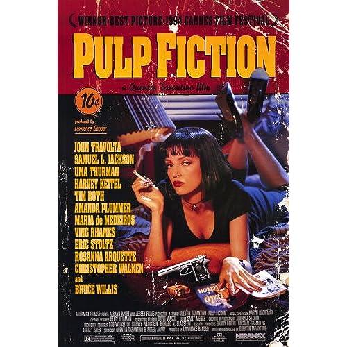 Uma Thurman Pulp Fiction Art Amazon