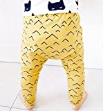 Baby and toddler pants with mustard yellow mountains