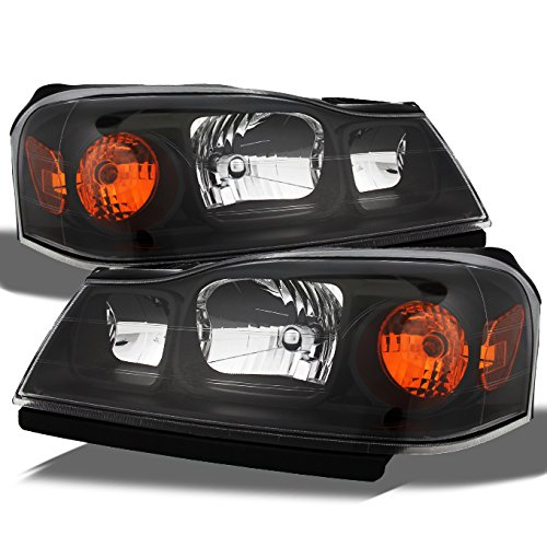 For Saturn Vue Amber Black Bezel OE Replacement Headlights Driver/Passenger Head Lamps Pair New ()