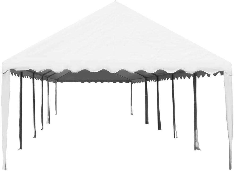 XINGLIEU Carpa de jardín de PVC 5 x 10 m de Color Blanco pérgola toldo Material: Tela (500 g/m2) y Acero galvanizado: Amazon.es: Jardín
