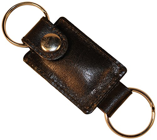 Budd Leather Calf Key Ring with Valet Snap, Black by Budd Leather