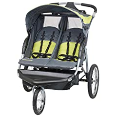 The Baby Trend Expedition Double Jogging Stroller makes your job as a parent easier. The dual-seat stroller comfortably fits two children, each up to 50 lbs. It's the ideal way to take twins or close siblings along on daily activities. This l...