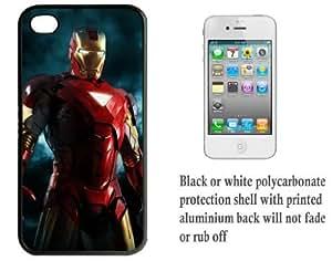 iPhone 4 4S Printed Hard Case With Aluminium Insert Iron Man