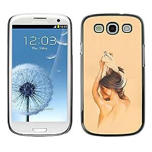 Samsung Galaxy S3 , Brunette Girl - Cáscara Funda Case Caso De Plástico