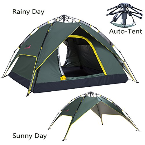 Makino 2 Person Outdoor Instant Tent with Rainfly, Army Green
