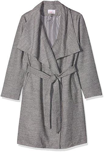 Großem Kragen grau Sheego Gris Manteau Femme Mit Kurzmantel Meliert Grau AEZwqRO