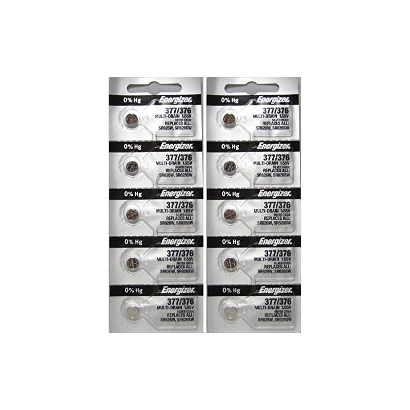 Energizer 377/376 Silver Oxide 10 Batter