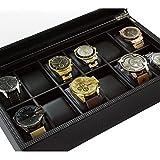 Glenor Co Watch Box for Men - 12 Slot Luxury Carbon