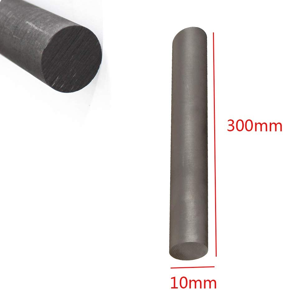 SOFIALXC Graphite Rods Carbon Electrode Cylinde Rods for Stirring Melting Mixing Jewelry 1pcs-15x300mm