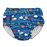 i play. Toddler Boys' Snap Reusable Absorbent Swimsuit Diaper, Royal Blue Sea Friends, 3T
